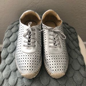 Marc Fisher Silver Espadrille Sneakers